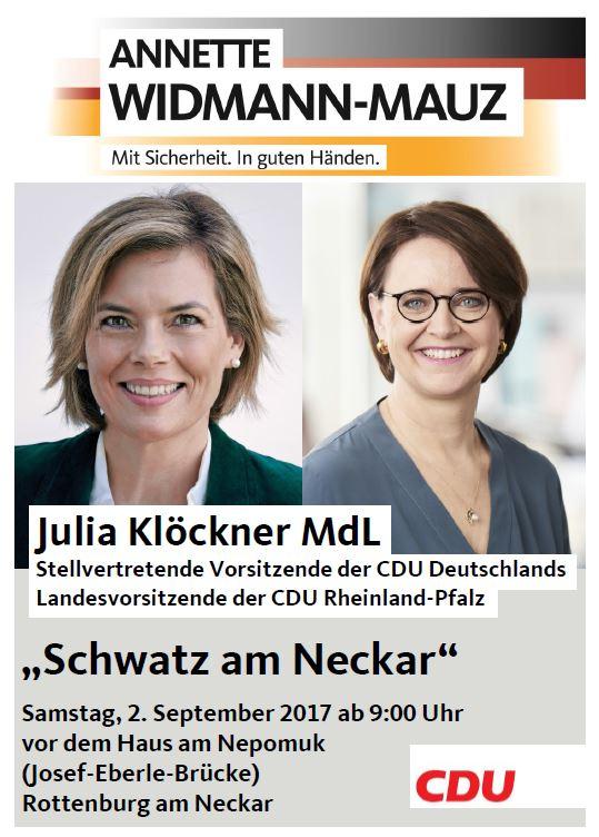 """""""Schwatz am Neckar"""" mit Julia Klöckner MdL"""