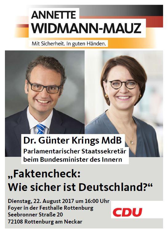 Faktencheck mit Innen-Staatssekretär Dr. Günter Krings MdB in Rottenburg