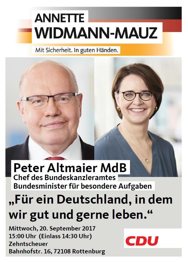 Kanzleramtschef Peter Altmaier MdB in Rottenburg