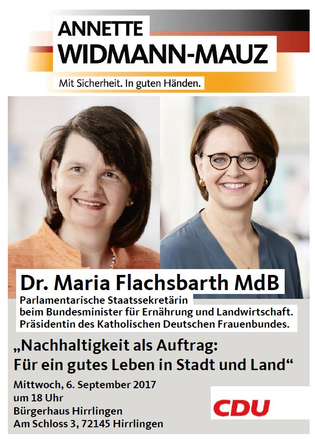 Landlust in Hirrlingen mit der Parl. Staatssekretärin Dr. Maria Flachsbarth MdB