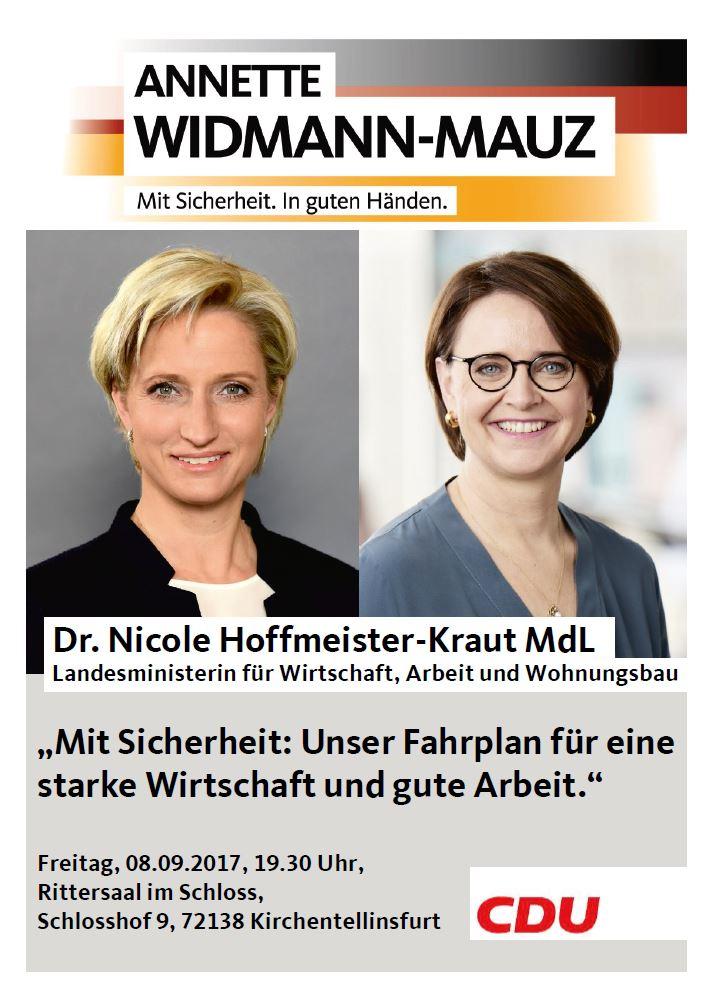 Mittelstandsdiaolg mit Landeswirtschaftsministerin Dr. Nicole Hoffmeister-Kraut MdL