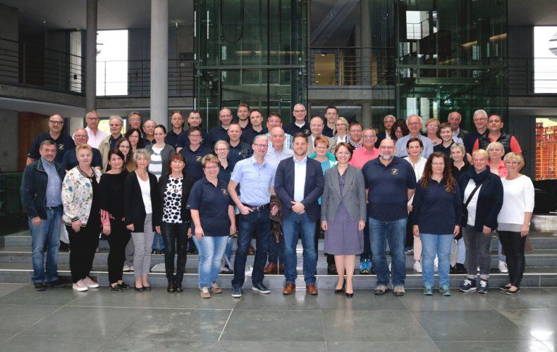 Gemeinderäte, Musikverein und Freiwillige Feuerwehr aus dem Wahlkreis zu Gast in Berlin