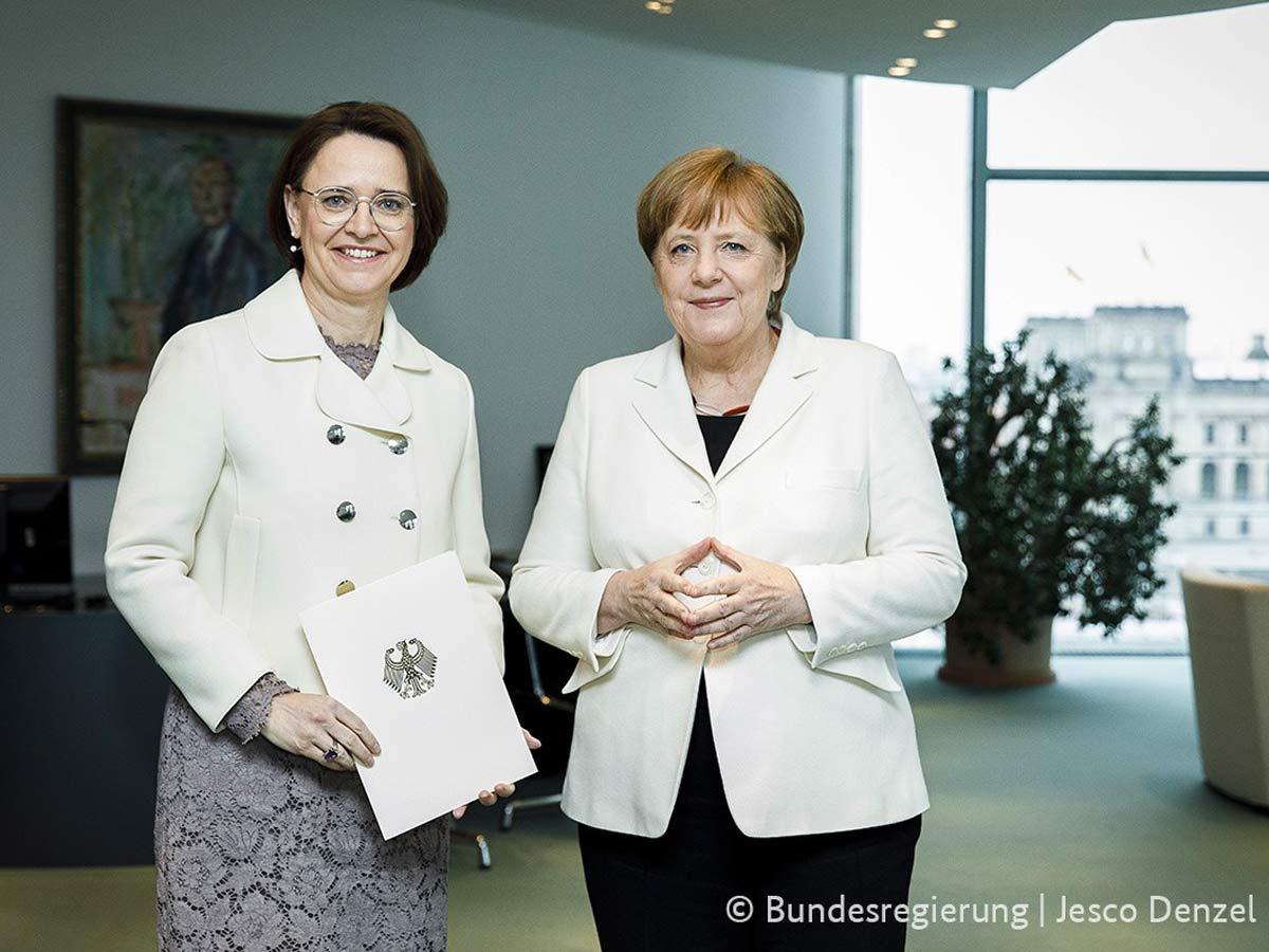 Staatsministerin Annette Widmann-Mauz MdB, Bundeskanzlerin Dr. Angela Merkel
