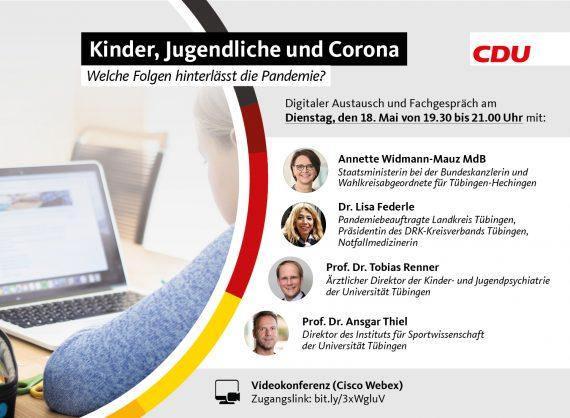 Veranstaltungseinladung Kinder, Jugendliche und Corona – Welche Folgen hat die Pandemie?