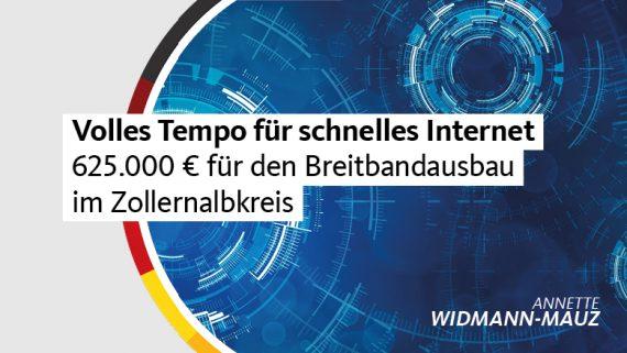 Widmann-Mauz MdB: Volles Tempo für schnelles Internet – 625.000 Euro für den Breitbandausbau im Zollernalbkreis