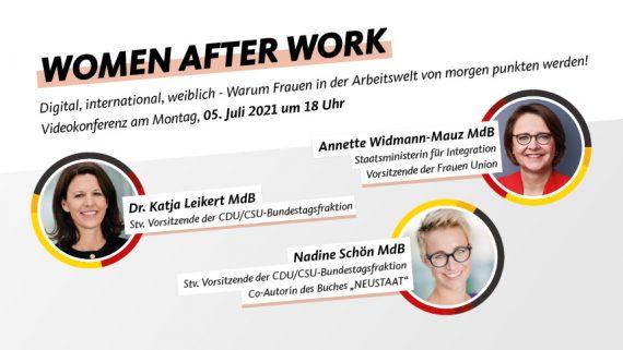 Digitaler Talk – Women after Work am 5. Juli 2021 um 18 Uhr