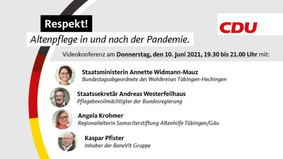 Respekt! Altenpflege in und nach der Pandemie. Videokonferenz mit dem Pflegebevollmächtigten der Bundesregierung Staatssekretär Andreas Westerfellhaus