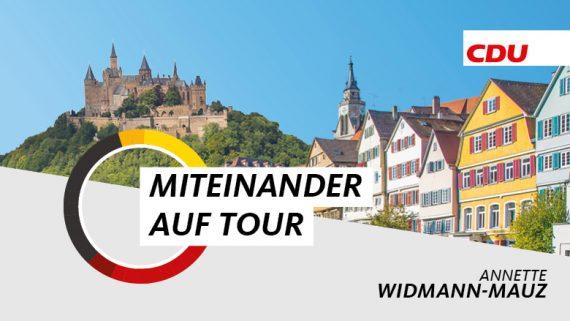 """""""Miteinander auf Tour"""" Widmann-Mauz startet Tour durch den Wahlkreis Tübingen-Hechingen und ist vor Ort in Betrieben, Vereinen und Organisationen mit Bürgerinnen und Bürgern im Gespräch."""