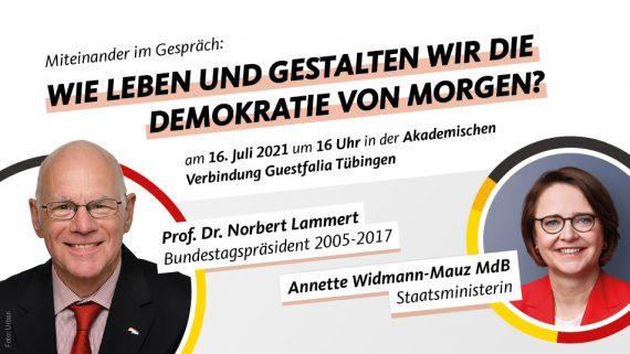 Wie leben und gestalten wir die Demokratie von morgen – Miteinander im Gespräch mit Prof. Dr. Norbert Lammert
