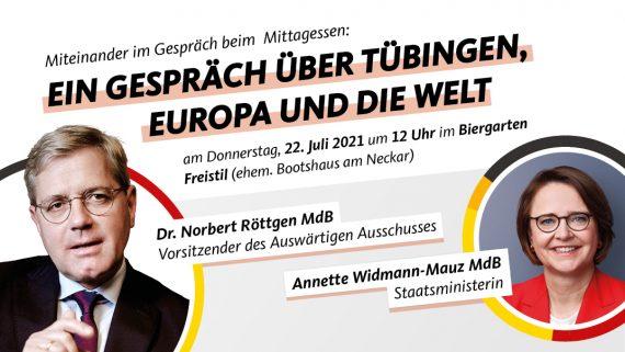 Tübingen, Europa und die Welt – Mittagsgespräch mit Dr. Norbert Röttgen