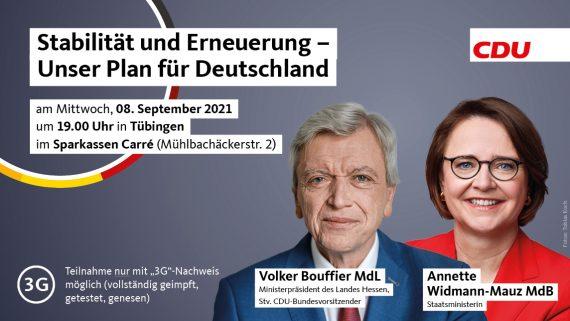 Stabilität und Erneuerung – Unser Plan für Deutschland mit Volker Bouffier MdL Ministerpräsident des Landes Hessen