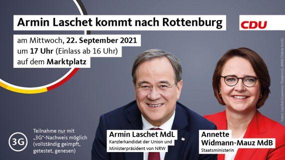 Armin Laschet kommt nach Rottenburg am Neckar!